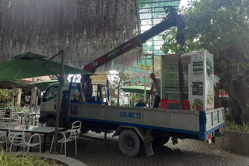 Lắp máy ở trang trại cá xấu long xuyên an giang