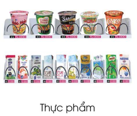 Mỳ tôm và các loại bánh bán trên máy bán hàng tự động TSE V01