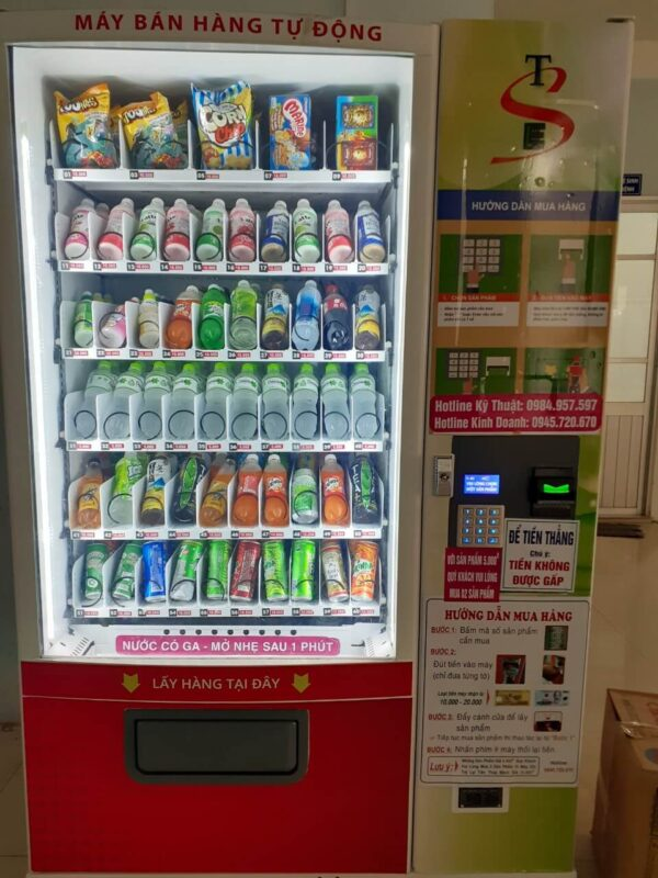 bán đa dạng các chủng loại sản phẩm trong máy bán hàng tự động V01 ⭐⭐⭐⭐⭐ Nhà cung cấp máy Bán Hàng Tự Động, TSE Máy bán nước tự động Số 1