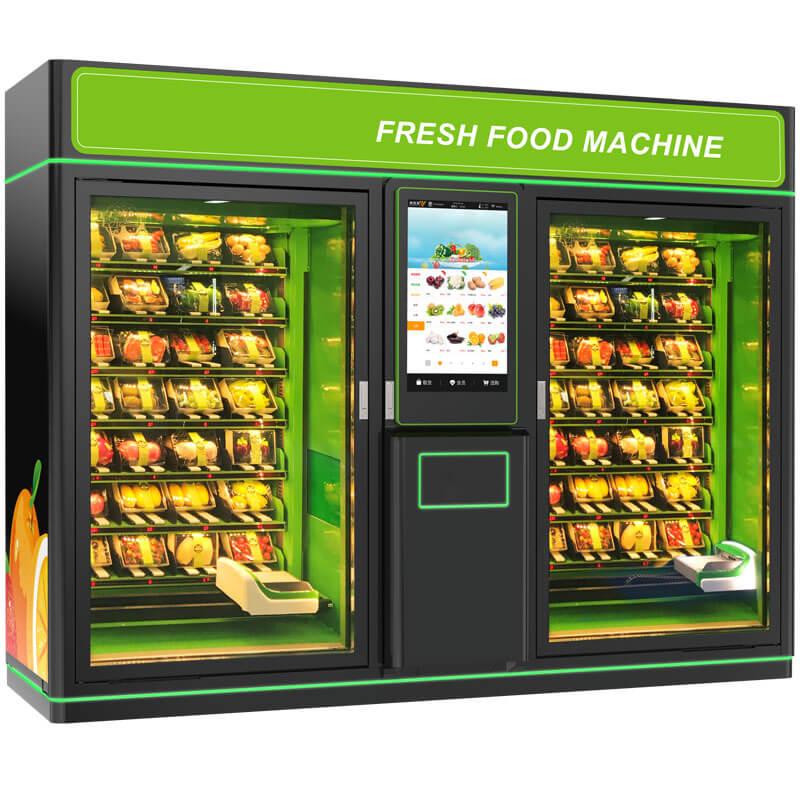 Máy bán trái cây tại các siêu thị