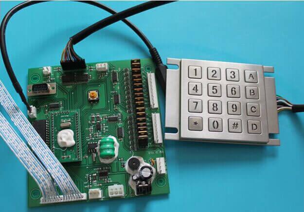 bàn phím dạng nút bấm của máy bán hàng tự động chất lượng