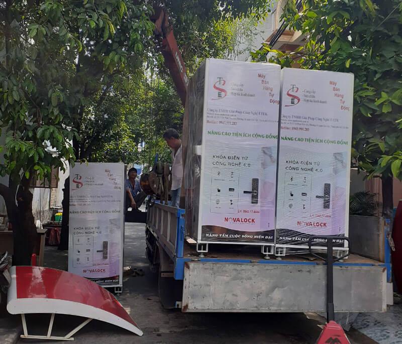 Máy bán hàng tự động tại bệnh viện sản nhi hậu giang
