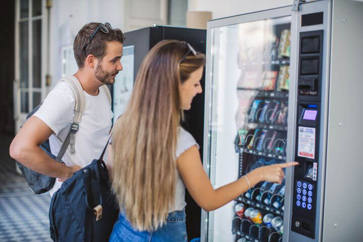 mo hình máy bán hàng tự động tại Tay ban nha